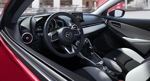 Mazda 2 Interior Black White